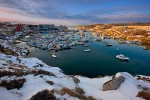 Ilulissat Harbor at Sunset, West Greenland