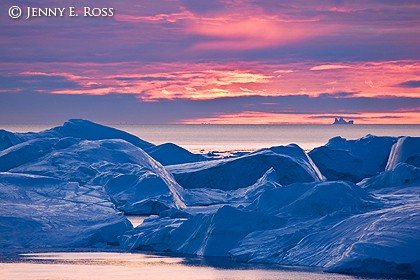 Sunset at the Iceberg Bank